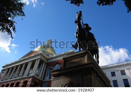 the state house can be seen in the left hand side of the image. Nickname:Fighting Joe PlaceÊofÊbirth: Hadley, Massachusetts PlaceÊofÊdeath: Garden City, New York Allegiance: United States