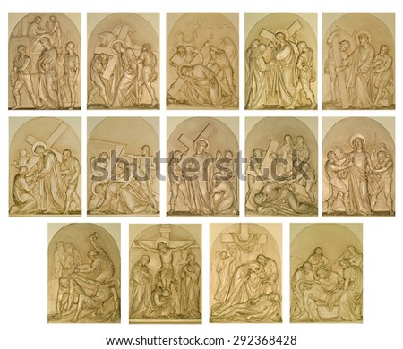 The Stations of the Cross - stock photo