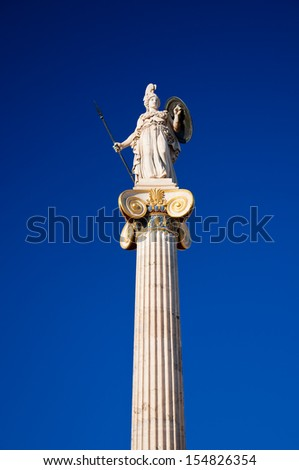 The statue of Athena. - stock photo