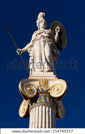 The statue of Athena. Greece.