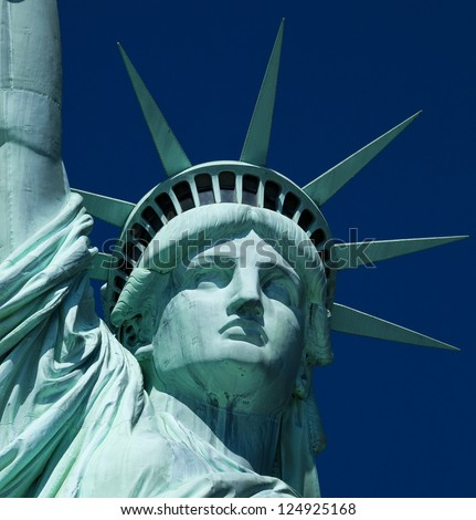 The Statue of Liberty at New York City - stock photo