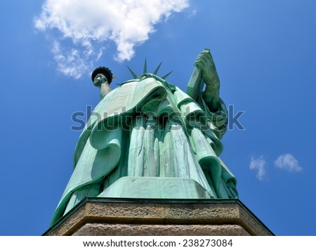The Statue of Liberty in New York City, USA. - stock photo