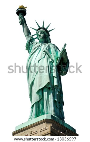 The Statue of Liberty isolated on white