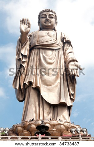 the statue of Lord Buddha - stock photo