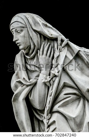Statue St Catherine Siena Santa Caterina Stock Photo Download Now