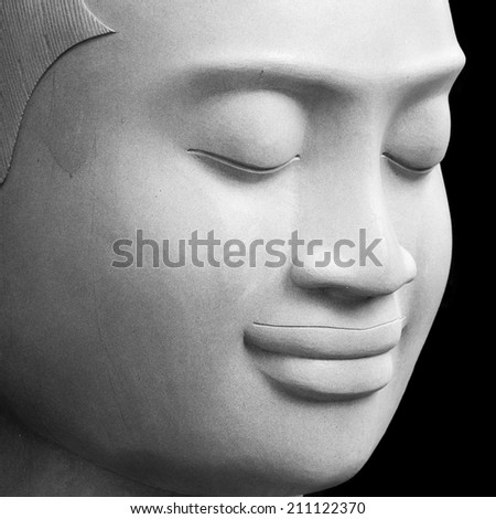 The status sculpture of Buddha from Cambodia