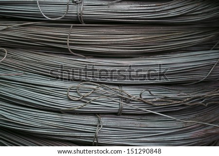 The steel bars used in construction
