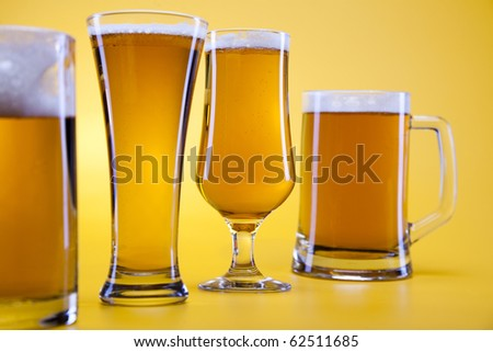 The still life with glass beer