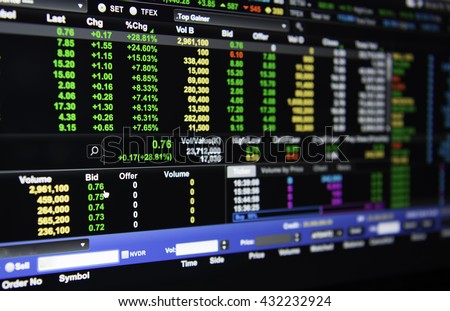 The stock Ceiling.(the stock price rose 30% in trading today). Exchange of Thailand.