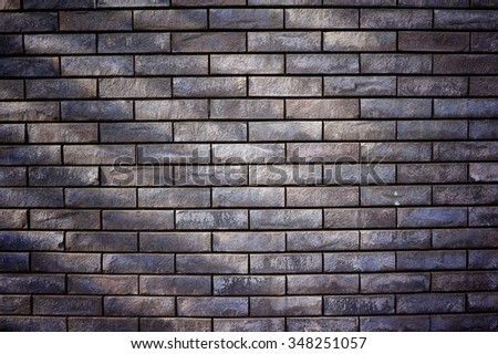 The stone brick wall for background