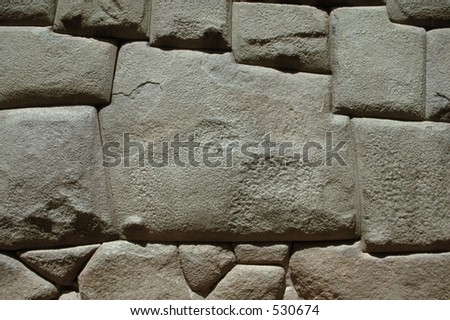 The Stone of 12 Angles in Cuzco, Peru, is a testimony of the amazing craftmanship of the Incas. - stock photo
