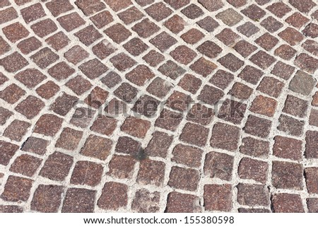 The stone pavement as the background texture