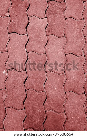 The stone roadway abstract background - stock photo