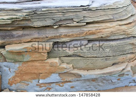 The stone texture gray with the brown is a lot of layers - stock photo
