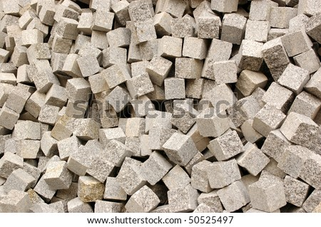 The stones for the pavement. - stock photo