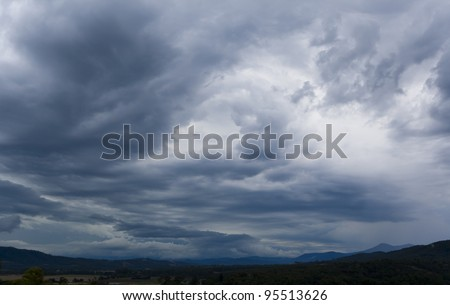 the storm is coming - stock photo