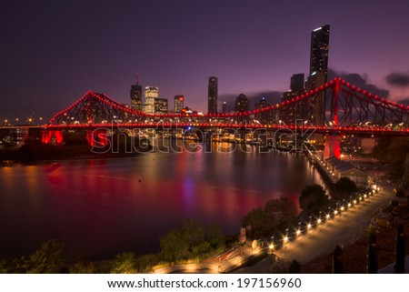 The Story Bridge, Brisbane, QLD - Australia. - stock photo