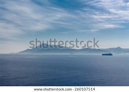 The Strait of Gibraltar. Seascape. Can be used as background - stock photo