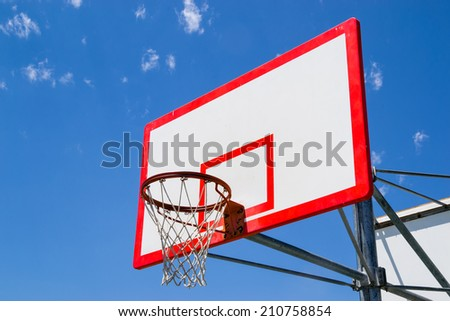The street basketball backboard and net. - stock photo