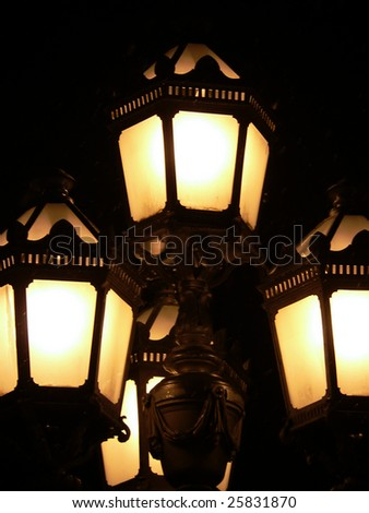 The street lamps in the Saint-Petersburg. - stock photo