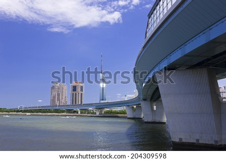 The Street Of The Coast In Japan - stock photo