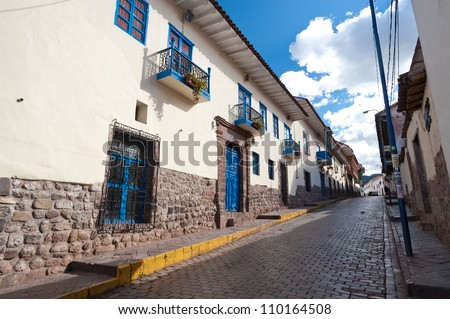 The streets of Cusco, Peru - stock photo