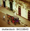 the streets of Granada in Nicaragua - stock photo
