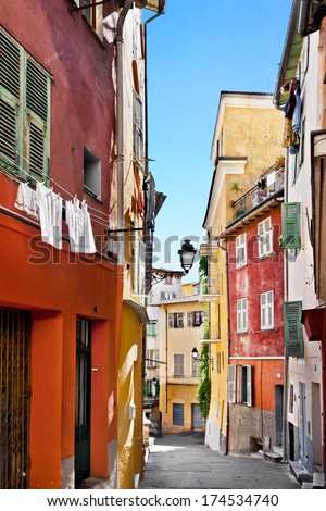 The streets of old Nice. France.