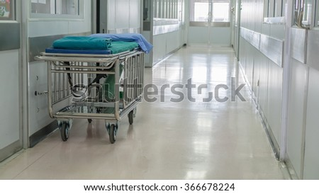 the stretcher for move patient - stock photo