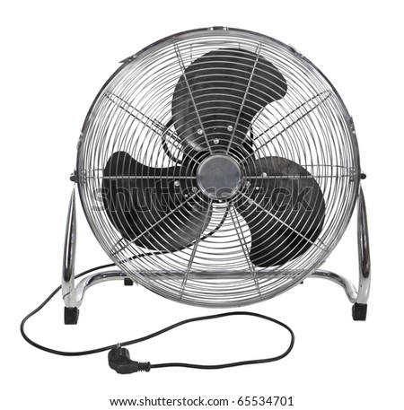 The studio fan, it is isolated on a white background - stock photo