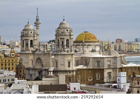 The styles of Cadiz Cathedral go from the baroque to the neoclassicist.
