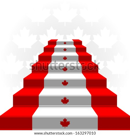The stylized ladder on a light background. Flag of Canada. EPS version is available as ID 155130419. - stock photo