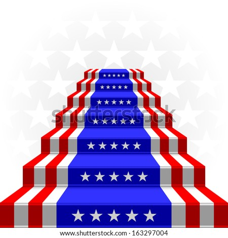 The stylized ladder on a light background. Flag of the USA. EPS version is available as ID 154870820. - stock photo