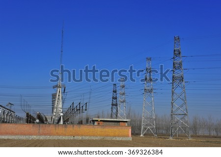 The substation electrical equipment