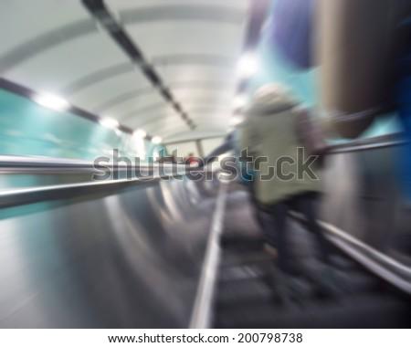 The subway passengers - stock photo