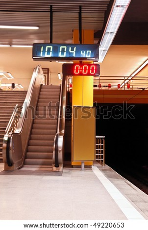 The Subway - Station and Stairs - stock photo