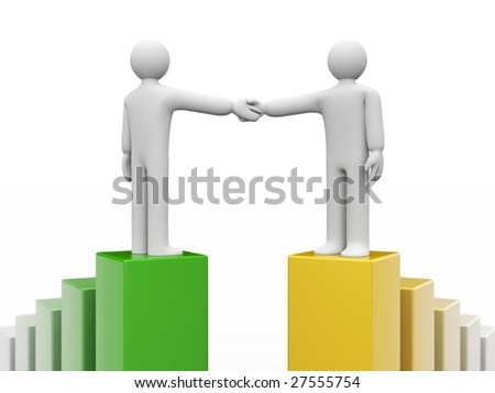 The successful agreement - stock photo