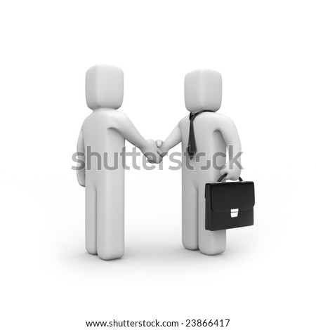 The successful agreement. Business concept. Isolated on white.