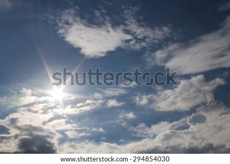 The Sun and clouds  - stock photo