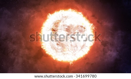 The Sun. Elements of this image furnished by NASA - stock photo