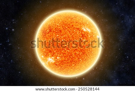 The Sun in Space - Elements of this Image Furnished By Nasa - stock photo