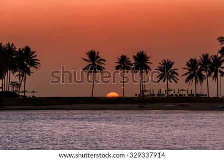 The sun is gone at Laguna Phuket - stock photo