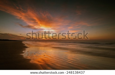 The sun is ready to begin a new day on the shores of Kiawah Island, South Carolina