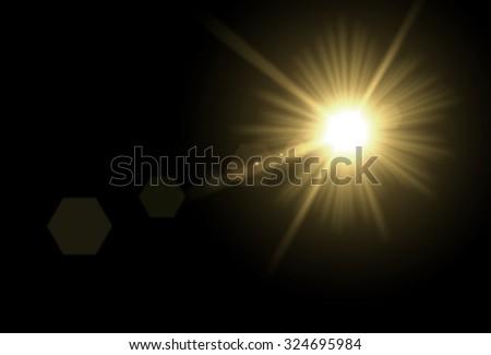 The Sun. Sun glare. - stock photo