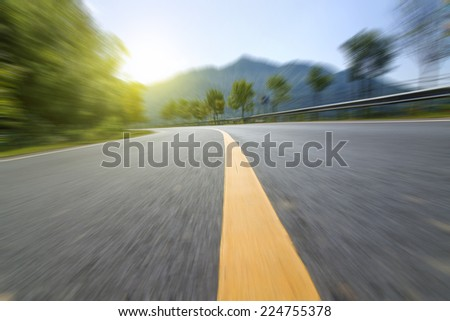 The sunset highway pavement