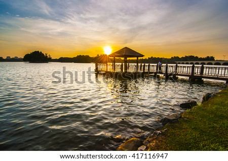 the sunset image at the jetty.