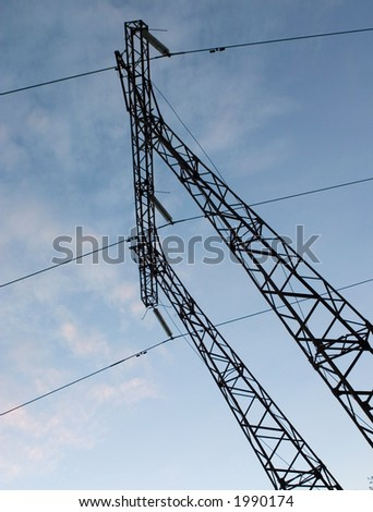 The support of high-voltage wires. - stock photo