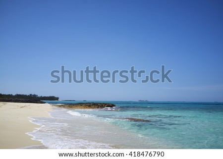 The surf in a Bahamas. - stock photo