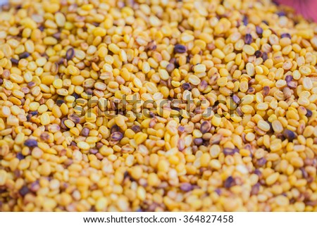 The surface area of the Small beans. - stock photo