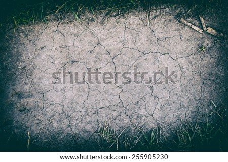 The surface of crack dry clay sold background or texture - stock photo